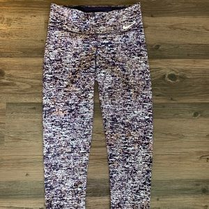 Nike Dri-Fit Purple Crop Pants